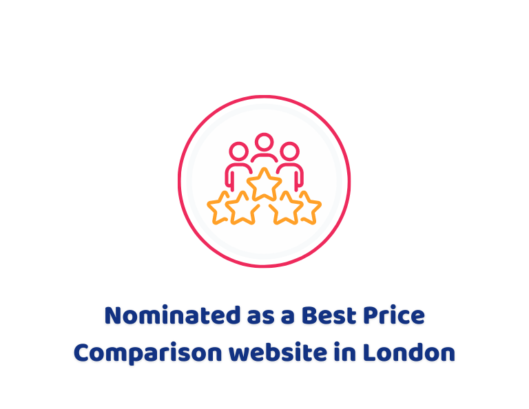 Nominated as a Best Price Comparison website in London